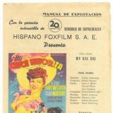 Cine: MANUAL DE EXPLOTACIÓN .. MI CHICA FAVORITA .. CON RITA HAYWORTH . Lote 26577126