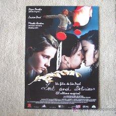 Cine: EL ULTIMO SUSPIRO, PIPER PERABO, MISCHA BARTON. Lote 19130642