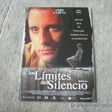 Cine: GUIA DE LOS LIMITES DEL SILENCIO, ANDY GARCIA. Lote 20556949