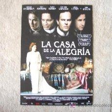Cine: GUIA DE LA PELICULA LA CASA DE LA ALEGRIA. Lote 25640493