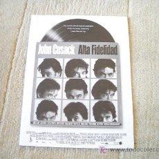 Cine: GUIA DE LA PELICULA ALTA FIDELIDAD. Lote 23318846