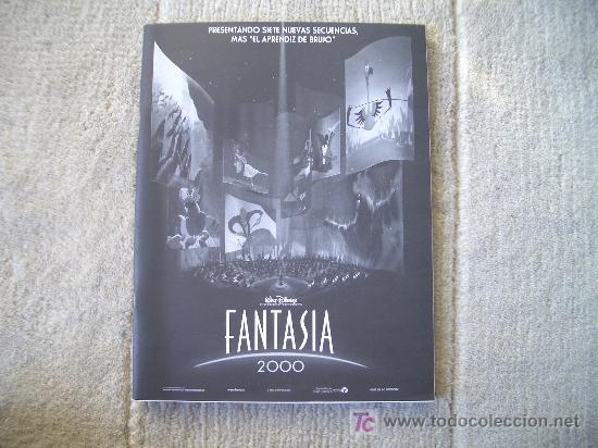 GUIA DE LA PELICULA FANTASIA 2000, WALT DISNEY (Cine - Guías Publicitarias de Películas )