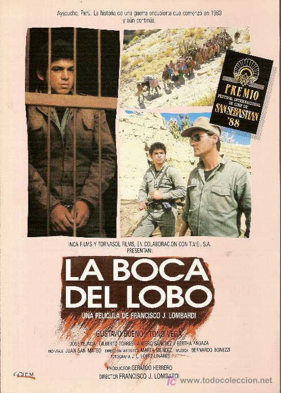 'LA BOCA DEL LOBO'. PERÚ. 2 HOJAS. (Cine - Guías Publicitarias de Películas )
