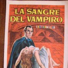 Cine: LA SANGRE DEL VAMPIRO. Lote 4989010
