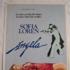 Cine: ANGELA - SOFIA LOREN GUIA PUBLICITARIA ORIGINAL ESTRENO. Lote 5061374