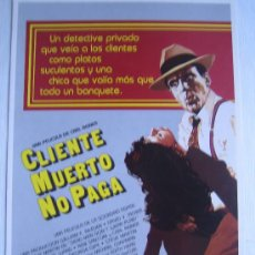 Cine: CLIENTE MUERTO NO PAGA. Lote 5194895