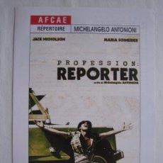 Cine: EL REPORTERO - ANTONIONI - JACK NICHOLSON. Lote 5239169