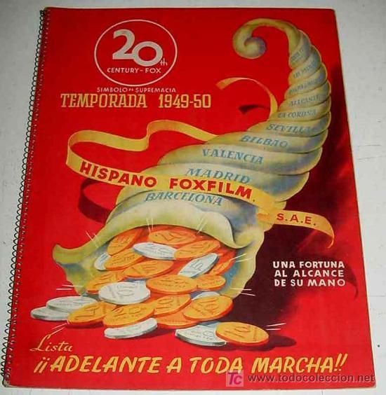ANTIGUO CATALOGO 1949-50 DE LA 20 TH CENTURY FOX . YEAR BOOK - HISPANO FOXFILM S.A.E. CON LAS PELICU (Cine - Guías Publicitarias de Películas )