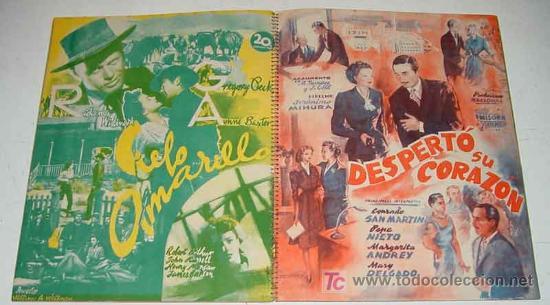Cine: ANTIGUO CATALOGO 1949-50 DE LA 20 th CENTURY FOX . YEAR BOOK - HISPANO FOXFILM S.A.E. CON LAS PELICU - Foto 2 - 26811645