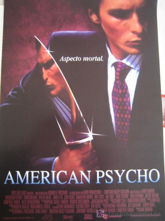 AMERICAN PSYCHO - GUIA PUBLICITARIA - CHRISTIAN BALE WILLEM DAFOE JARED LETO (Cine - Guías Publicitarias de Películas )