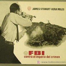 Cinéma: G0517 FBI CONTRA EL IMPERIO DEL CRIMEN JAMES STEWART MERVIN LEROY GUIA ORIGINAL ESTRENO WARNER. Lote 7205193