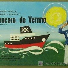 Cine: G0523 CRUCERO DE VERANO CARMEN SEVILLA LUIS LUCIA GUIA ORIGINAL ESTRENO SUEVIA. Lote 7205209