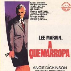 Cine: A QUEMARROPA GUIA PUBLICITARIA ORIGINAL LEE MARVIN ANGIE DICKINSON. Lote 11568396