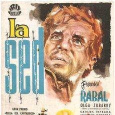 Cine: G0777 LA SED FRANCISCO RABAL LUCAS DEMARE CARLOS ESTRADA GUIA ORIGINAL ESTRENO IRIS. Lote 7519485