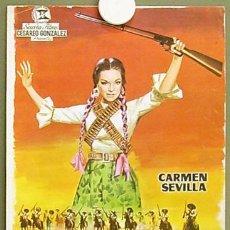 Cine: G0800 LA GUERRILLERA DE VILLA CARMEN SEVILLA VICENTE PARRA GUIA ORIGINAL ESTRENO SUEVIA. Lote 7528631