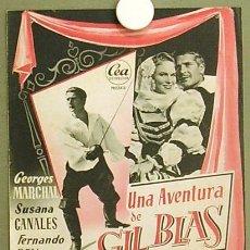 Cine: G0826 UNA AVENTURA DE GIL BLAS SUSANA CANALES BENITO PEROJO FERNANDO REY GUIA ORIGINAL ESTRENO CEA. Lote 7531703