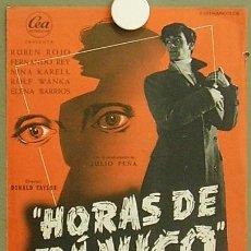 Cine: G0835 HORAS DE PANICO RUBEN ROJO FERNANDO REY JULIO PEÑA GUIA ORIGINAL ESTRENO CEA. Lote 7533226