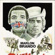 Cine: QUEMADA, GUIA ORIGINAL SENCILLA REPOSICION, MARLON BRANDO, OFERTA. Lote 45293015