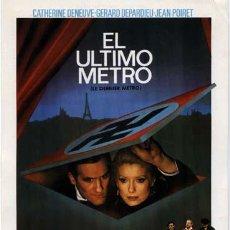 Cine: EL ULTIMO METRO-GUIA PUBLICITARIA ORIGINAL FRANÇOIS TRUFFAUT. Lote 11466332