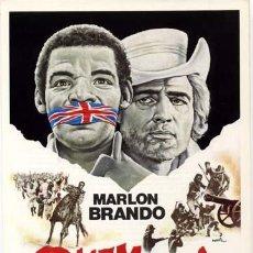 Cine: QUEMADA GUIA PUBLICITARIA ORIGINAL MARLON BRANDO ENNIO MORRICONE. Lote 11494088