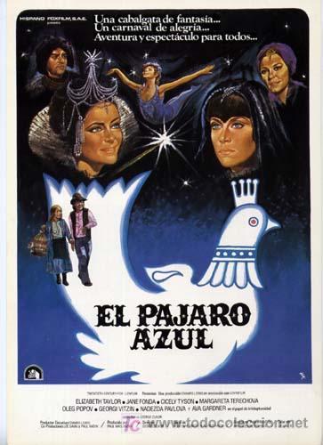 EL PAJARO AZUL GUIA PUBLICITARIA ORIGINAL LIZ TAYLOR AVA GADNER JANE FONDA (Cine - Guías Publicitarias de Películas )