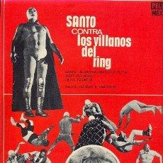 Cine: SANTO CONTRA LOS VILLANOS DEL RING. Lote 17007477