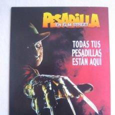 Cine: GUIA PUBLICITARIA CATALOGO - PESADILLA EN ELM STREET - FREDDY KRUEGER A NIGHTMARE ON ELM STREET. Lote 278394968