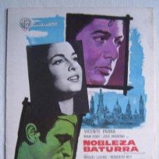 Cine: GUIA PUBLICITARIA - NOBLEZA BATURRA - VICENTE PARRA ALFREDO LANDA IRAN EORY - CINE ESPAÑOL. Lote 8230964