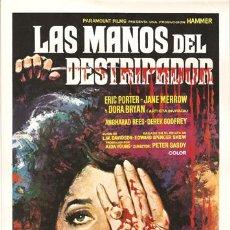 Cine: G1151 LAS MANOS DEL DESTRIPADOR HAMMER JIMMY SANGSTER GUIA ORIGINAL ESTRENO PARAMOUNT. Lote 10843720