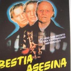 Cine: GUIA PUBLICITARIA - BESTIA ASESINA - TERROR. Lote 8743356