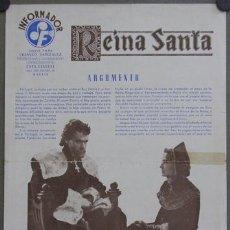 Cine: G1617 REINA SANTA MARUCHI FRESNO ANTONIO VILAR RAFAEL GIL GUIA ORIGINAL ESTRENO SUEVIA. Lote 8952792