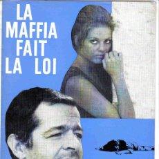 Cine: LA MAFFIA FAIT LA LOI- CLAUDIA CARDINALE, FRANCO NERO, SERGE REGGANI GUIA 4 PAG RARA FRANCIA. Lote 9641306