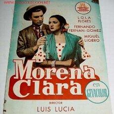 Cine: MORENA CLARA - GUIA DE ESTA PELICULA PRESENTADA POR CIFESA - AÑOS 50 - MUCHAS FOTOGRAFIAS, CON SU FI. Lote 13996211