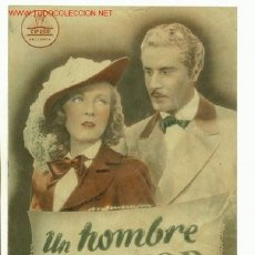 Cine: ANTIGUA GUIA DE LA PELICULA - UN HOMBRE DE HONOR - CIFESA. Lote 15622063