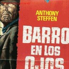 Cine: BARRO EN LOS OJOS, GUIA ORIGINAL DOBLE, OESTE, PAPEL. Lote 23518223