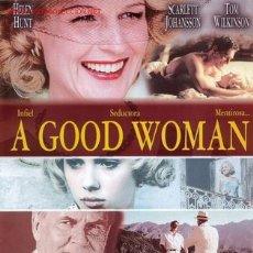Cine: 'A GOOD WOMAN', CON SCARLETT JOHANSSON. 2 HOJAS.. Lote 18480623
