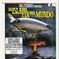 Cinema: LA ISLA DEL FIN DEL MUNDO, GUIA ORIGINAL SENCILLA, PAPEL. Lote 27588259