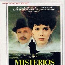Cine: MISTERIOS, GUIA ORIGINAL SENCILLA DEL ESTRENO DE LA PELICULA. Lote 22289426