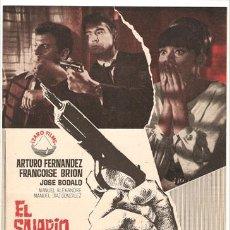 Cine: G2513 EL SALARIO DEL CRIMEN ARTURO FERNANDEZ JULIO BUCHS GUIA ORIGINAL IZARO ESTRENO. Lote 9904892