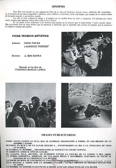 Bodas De Sangre Federico Garcia Lorca Irene Papas Y Laurence Therzief