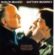 Cine: EL NOVATO-MARLON BRANDO + MATTHEW BRODERICK MINI POSTER + SIPNOSIS (SPAIN). Lote 10222013
