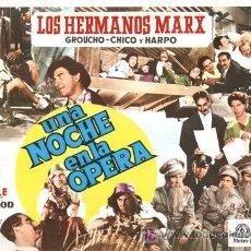 Cine: G4390 UNA NOCHE EN LA OPERA HERMANOS MARX GUIA ORIGINAL CIRE REPO 63. Lote 127276856