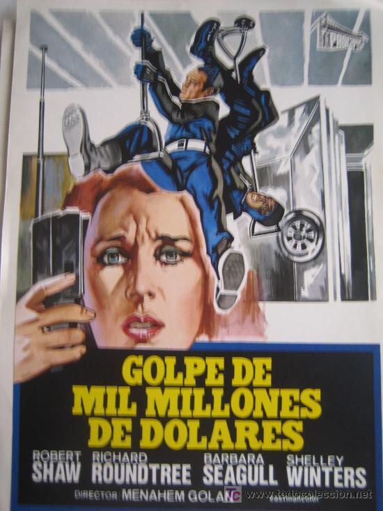 GUIA PUBLICITARIA - GOLPE DE MIL MILLONES DE DOLARES - RICHARD ROUNDTREE - MENAHEM GOLAN (Cine - Guías Publicitarias de Películas )