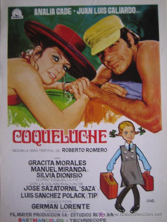 GUIA PUBLICITARIA - COQUELUCHE - ANALIA GADE GERMAN LORENTE (Cine - Guías Publicitarias de Películas )