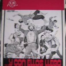 Cine: GUIA PUBLICITARIA - Y CON ELLOS LLEGO LA BRONCA - WESTERN ARTES MARCIALES. Lote 10329643
