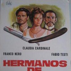 Cine: GUIA PUBLICITARIA - HERMANOS DE SANGRE - CLAUDIA CARDINALE. Lote 10330892