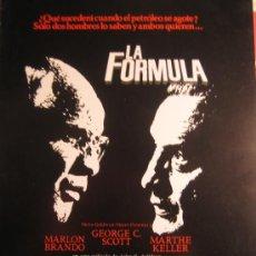 Cine: GUIA PUBLICITARIA - LA FORMULA - MARLON BRANDO. Lote 10496105