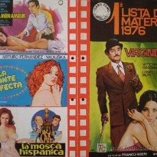 Cine: IZARO FILMS. 1º LISTA DE MATERIAL 1976. Lote 19537960