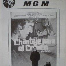 Cine: CHANTAJE PARA EL CRIMEN (LE MATAF) SERGE R. LEROY. MGM. PIERRE SANTINI. Lote 19537961