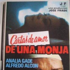 Cine: GUIA PUBLICITARIA - CARTAS DE AMOR DE UNA MONJA - ANALIA GADE - EROTICO. Lote 10578820